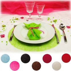 Set de Table Rond Intissé X10