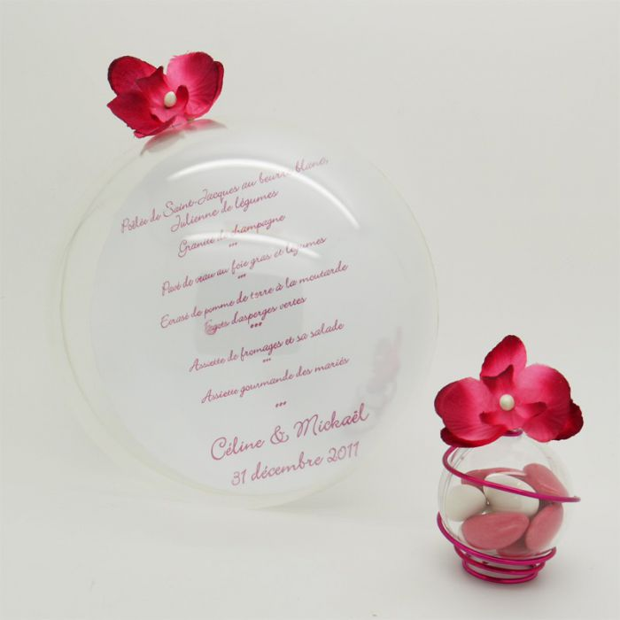 Boule porte menu diam 15 cm - Boule en plastique pas cher ...