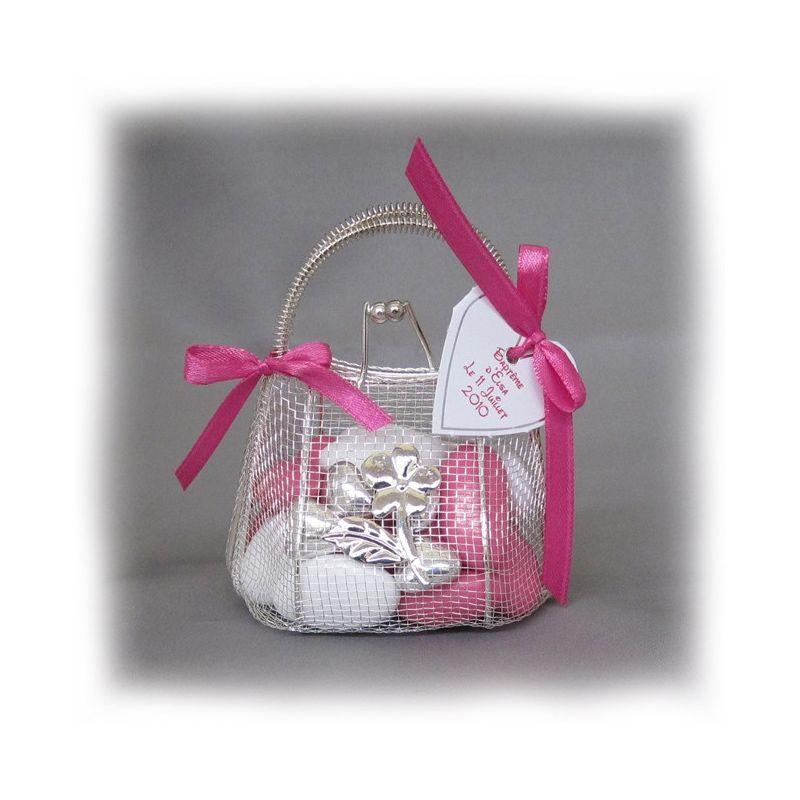 drag es bapteme mini sac main drag es fer forg fleurs de drag es. Black Bedroom Furniture Sets. Home Design Ideas