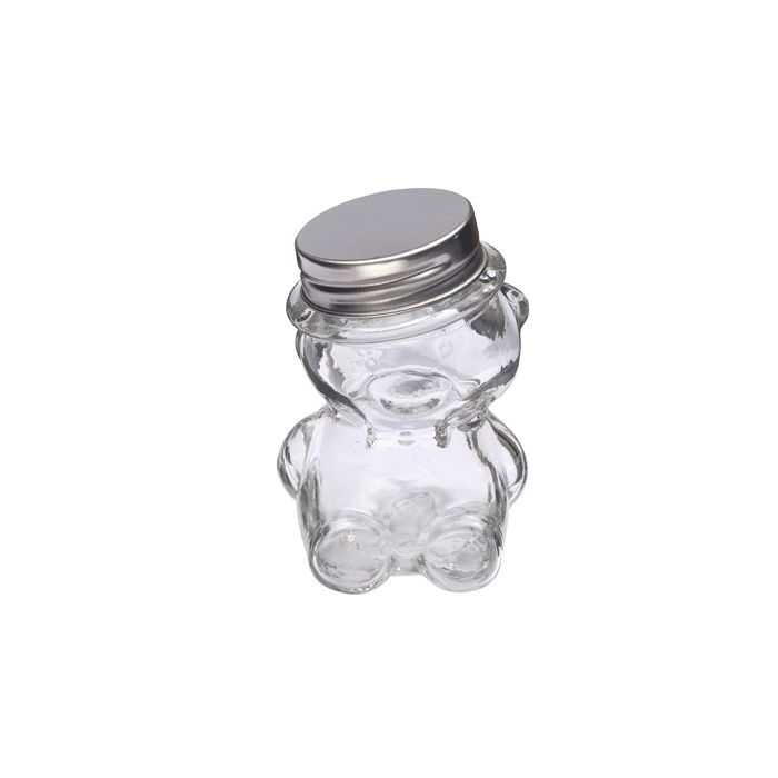 Pot drag es verre ourson fleurs de drag es - Pot a dragees en verre ...