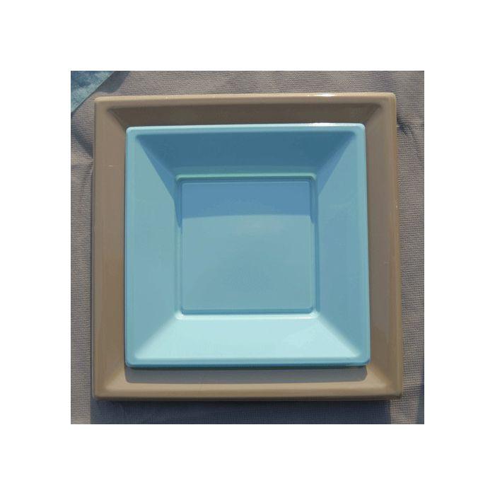 vaisselle jetable assiette plastique carr x12 gm. Black Bedroom Furniture Sets. Home Design Ideas