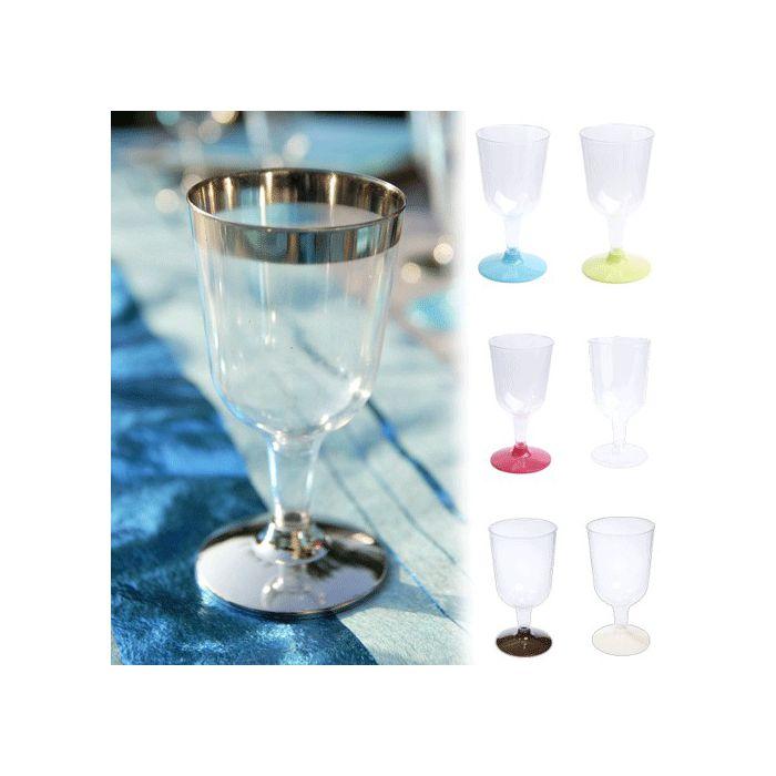 Vaisselle jetable verre a vin plastique x6 - Boule en plastique pas cher ...