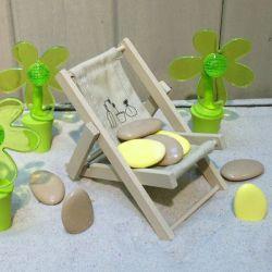 Sujet dragées chaise de plage