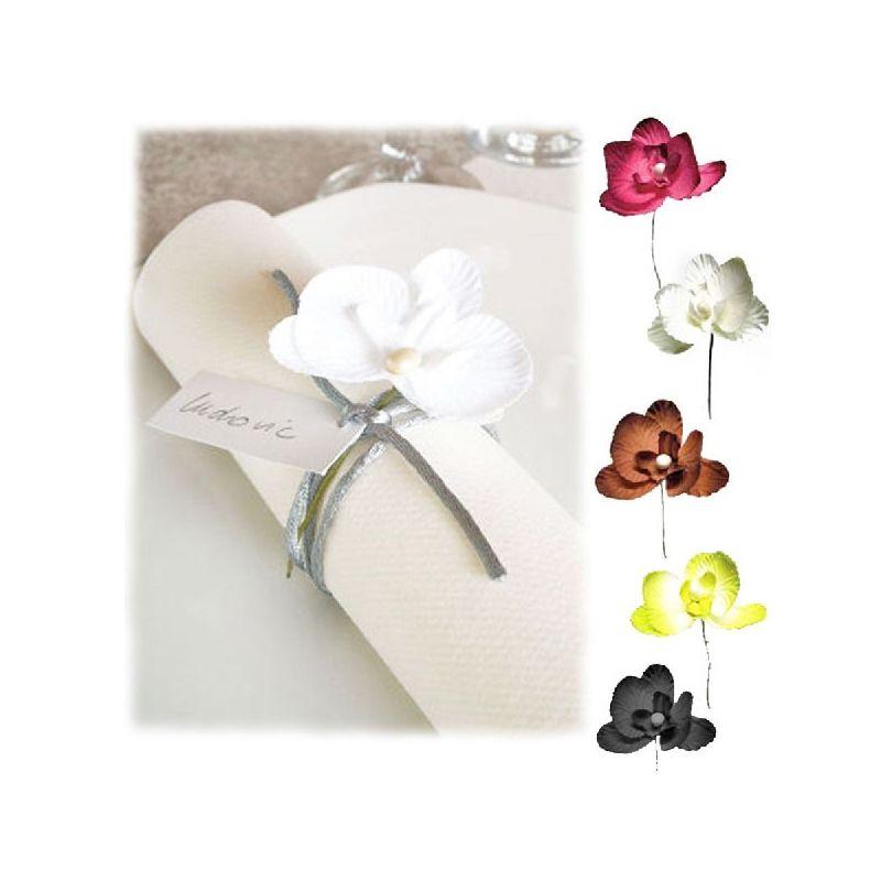 Orchid e d co sur tige x 10 mini fleurs accessoires fleurs de drag es - Deco mariage orchidee ...