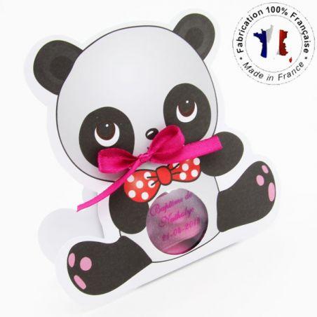 Boîte dragée carton Panda X6