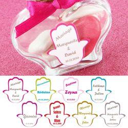 etiquettes drages autocollante sticker main x18 - Etiquette Autocollante Mariage