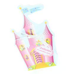 Boîte dragée chateau princesse X10