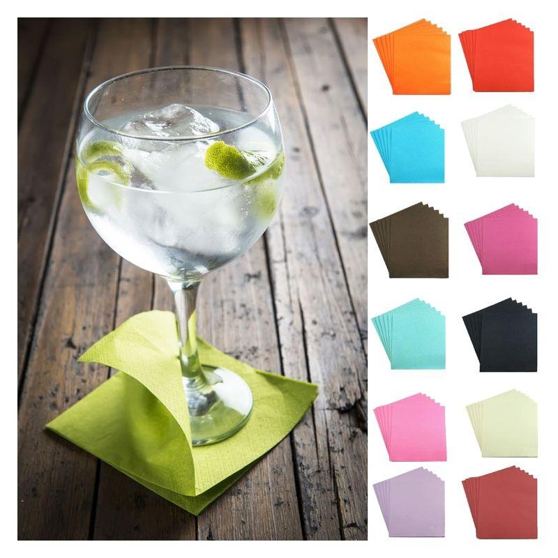 Serviette Cocktail Pas Cher De Qualit 40 Pi Ces