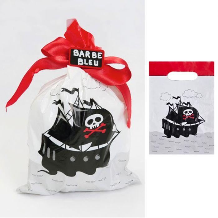 Sachet bonbon pirate anniversaire ou mariage - Sac bonbon anniversaire a fabriquer ...