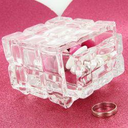 Bonbonnière dragées Coffre bijoux verre