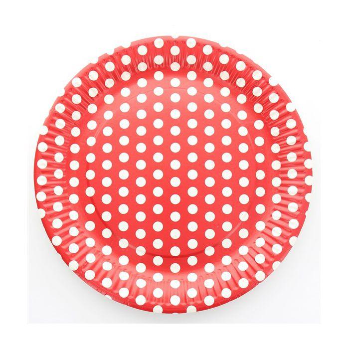 assiette pois rouge les 10 assiettes en carton pas cher. Black Bedroom Furniture Sets. Home Design Ideas