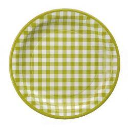 Assiette vichy les 10 pieces - Vert