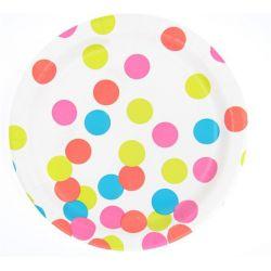 Assiette gros pois les 10 pieces - Multicolore