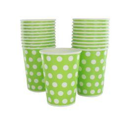 Gobelet pois les 10 pièces - Vert