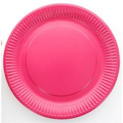 assiette jetable 23cm ronde lot 10 fushia - Assiette Jetable Mariage