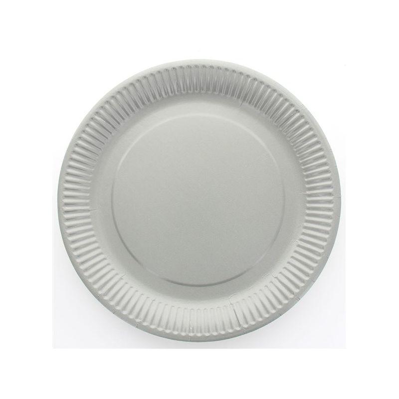 Assiette jetable 23cm ronde gris lot de 10 vaisselle - Lot vaisselle pas cher ...