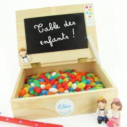 Bonbonnière dragées Table d'écolier / Marque Table