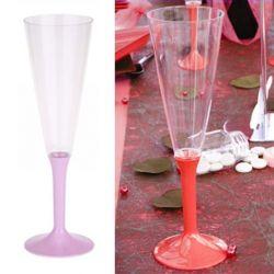 Flûte champagne plastique 13cl (10psc) - Rose