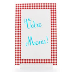 Grand Menu Vichy 30 x 20cm