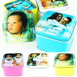 Boîtes dragées photo - Cube