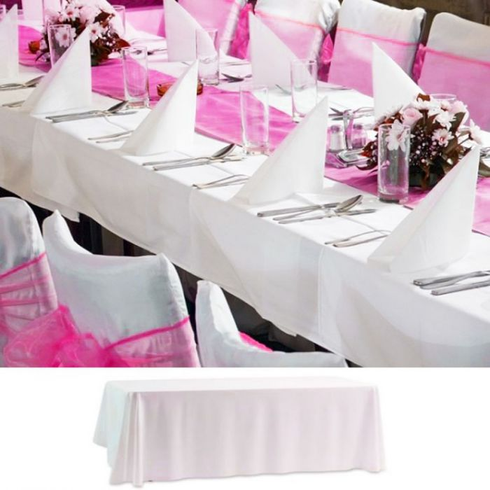 nappe de table mariage rectangulaire. Black Bedroom Furniture Sets. Home Design Ideas