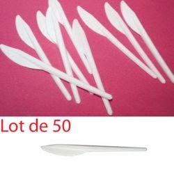 Couteau plastique jetable économique (les 50)