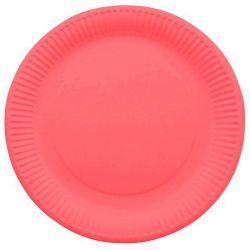 Assiette jetable Ø23cm Ronde (lot 10) - Rouge