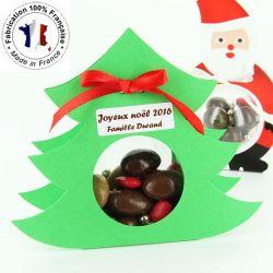 Ballotin dragées chocolat noël - Sapin à suspendre (les 6)