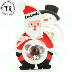 Ballotin chocolat de NOEL - Pére noël à supsendre  (les 5)