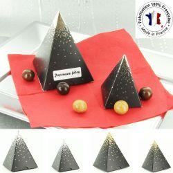 Ballotin dragées chocolat NOËL - Montagne en enneigé (les 10)