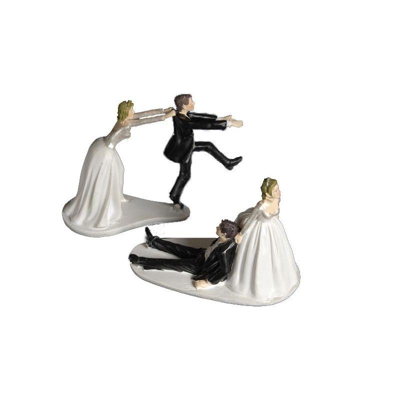 couple maris humoristique - Figurine Mariage Humoristique Pas Cher