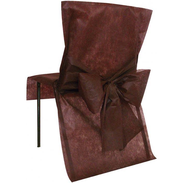 Housse de chaise avec noeud x10 d corations de salle for Housse de chaise rose