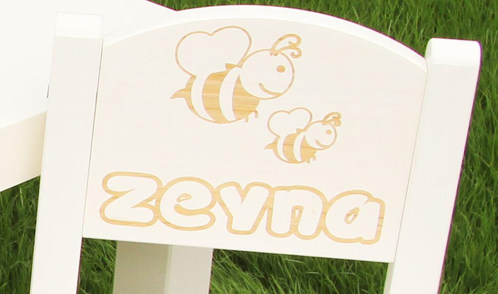 Chaise personnalisée abeille