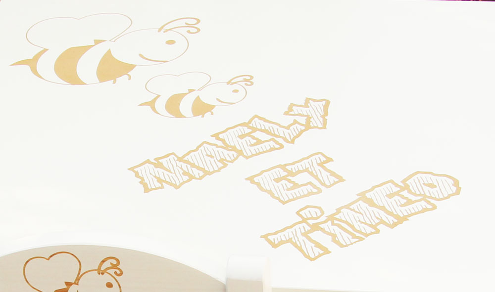 Table personnalisée abeille, bureau enfant personnalisée