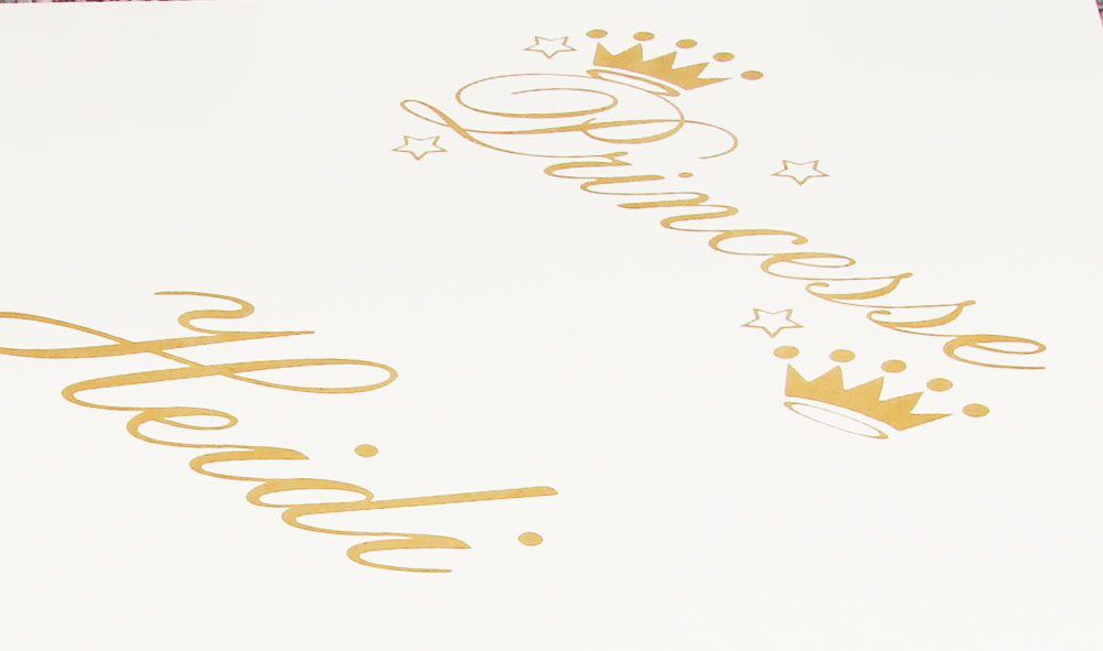 Table personnalisée princesse