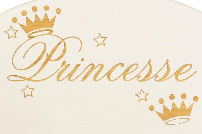 Chaise personnalisée princesse
